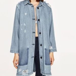 Zara Woman ZW The Levita Distressed Denim Frock